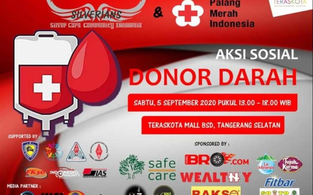 Bakti Sosial Donor Darah Silverian Cars Community Indonesia