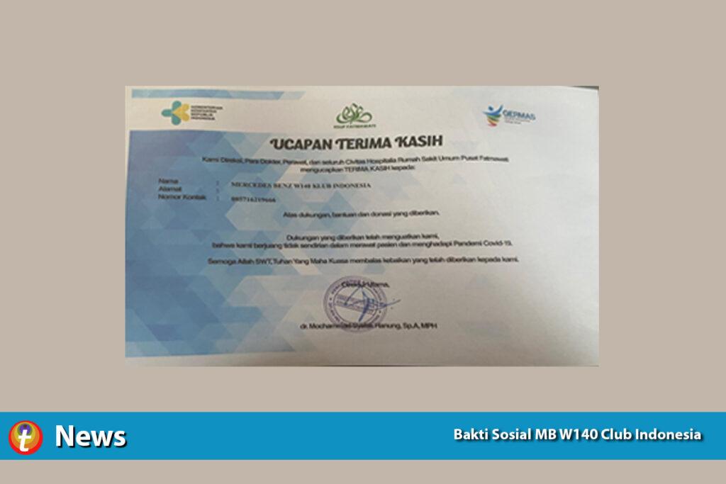 Bakti Sosial MB W140 Club Indonesia 2